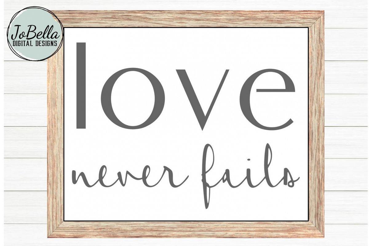 Download Corinthians Love Never Fails SVG, Sublimation and ...