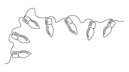 Christmas Ornament Line Drawing Down Below A Christmas Light Drawing Christmas Lights Drawing