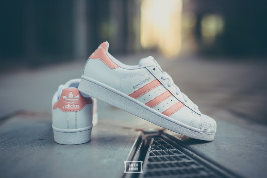 adidas originals superstar rosa streifen