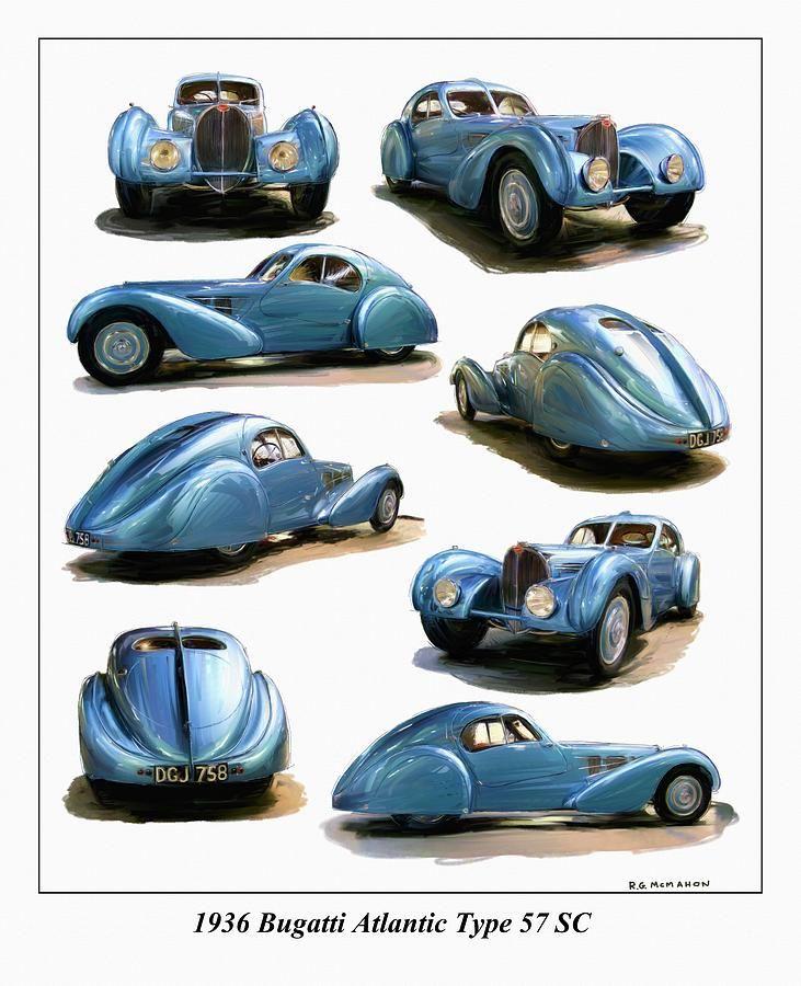 1936 Bugatti Atlantic Type 57 Sc By Rg Mcmahon Bugatti Bugatti Type 57 Bugatti Cars