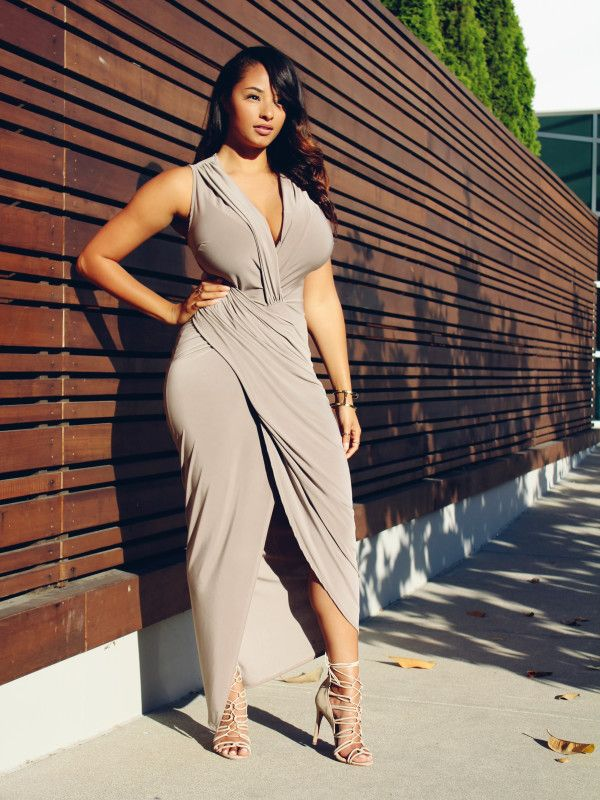 BeyondHerReality Mercedes Hawkins, Big Brests, Maxi Wrap Dress, Maxi  Dresses, Dress Skirt