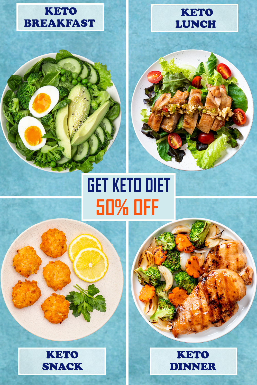 The easy-to-follow KETO Meal Plan images