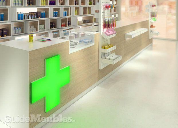 Comptoir pharmacie pharmacie pinterest shops for Agencement pharmacie meuble