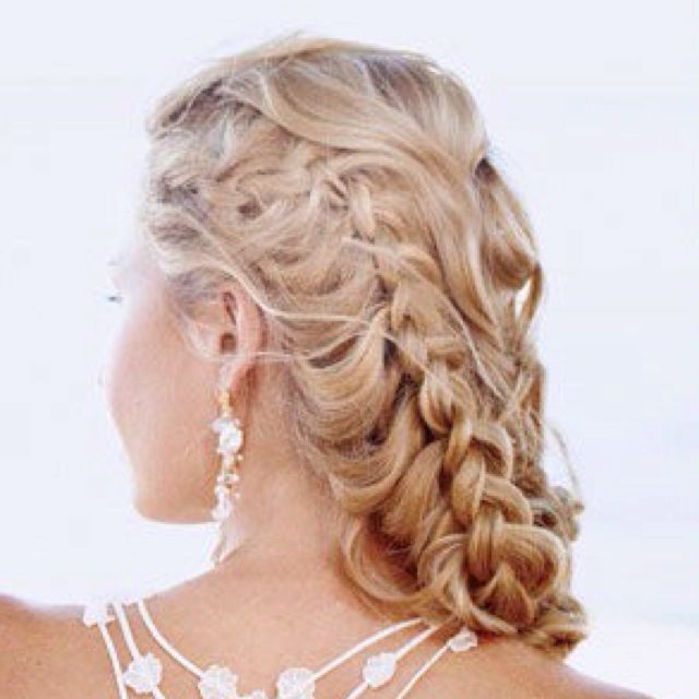 Wedding hair! Also pretty for prom or other special occasion.
