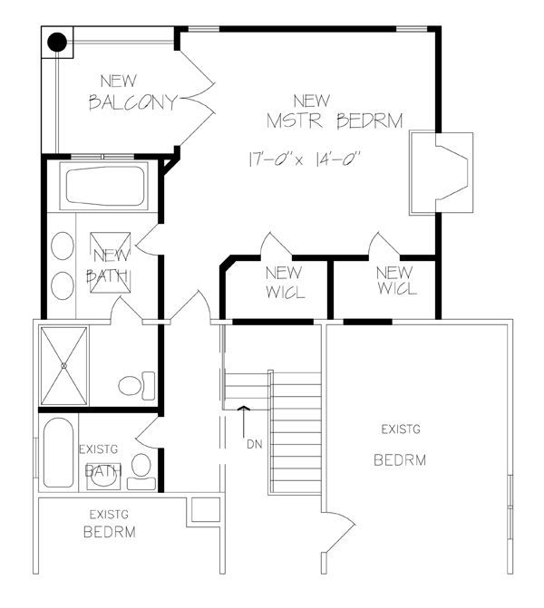 Bedroom Additions Plans For Existing Home