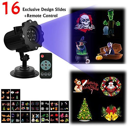 Christmas Projector Light AMILE Rotating Light with 16PCS Switchable