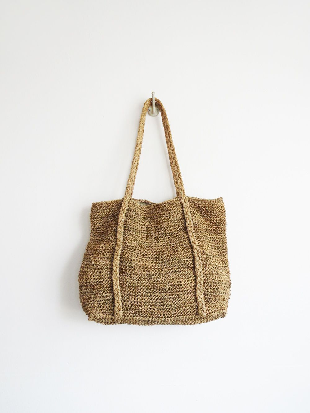 f662c52d51a3 Natural Woven Tote SOLD