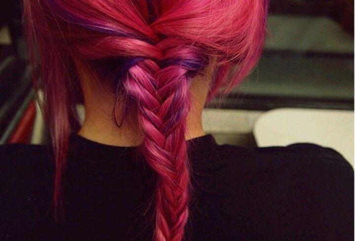 LOVE this hair color with the fishtail braids!!!! <3
