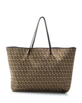 b53a1f7acdd Fendi Monogram Brown Tote Bag  529