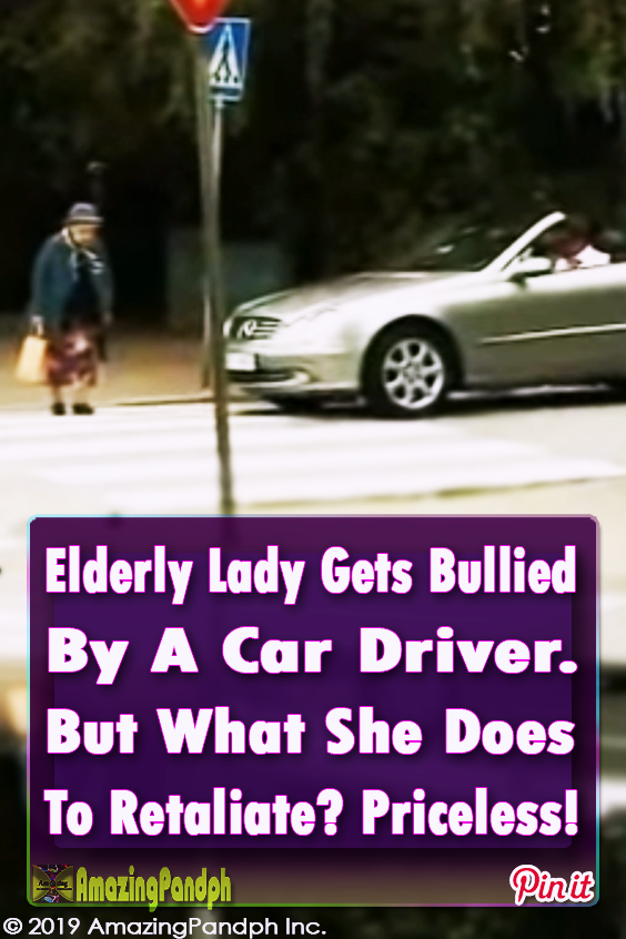 Elderly Lady Gets Bullied By A Car Driver But What She Does To Retaliate Priceless Funny Jokes Bones Funny Senior Humor