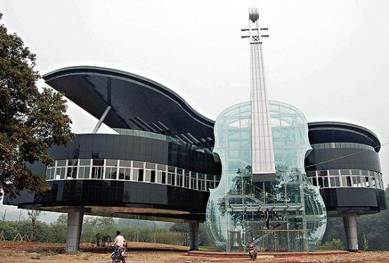 Piano and violin house in China.