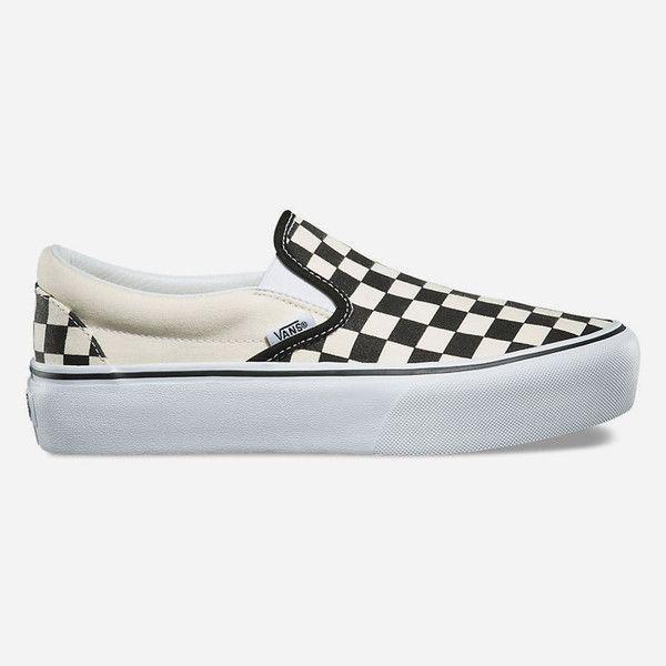 vans platform slip on trainers in checkerboard