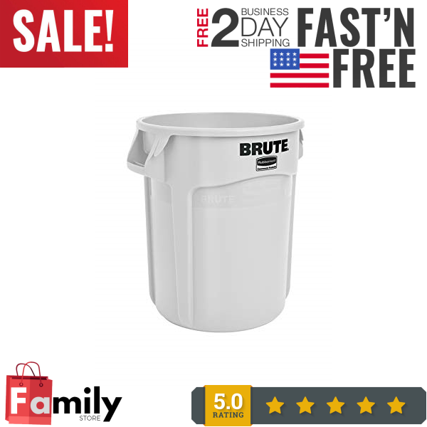 Rubbermaid Commercial Brute Trash Can 10 Gallon White Fg261000wht Trash Cans Beautyblog Makeupoftheday Makeupbyme In 2020 Trash Can Trash Cans Kitchen Trash Cans