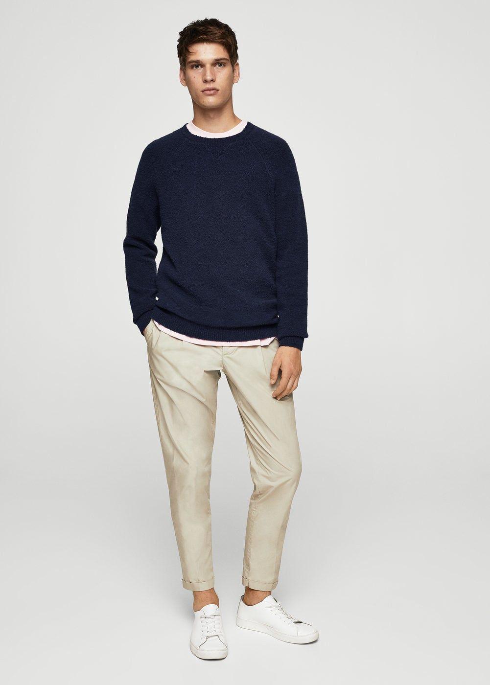 ec9e2624a94f Textured cotton sweater - Men
