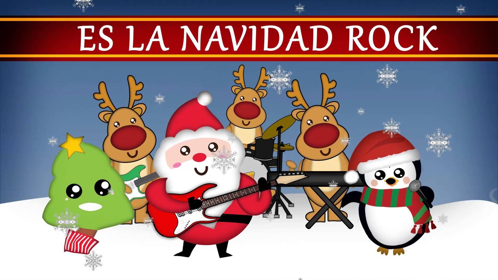 Lado Divertido Navidad Rock Lyric Video Villancicos Navideños Para Niños Villancicos Navideños Bailes De Navidad