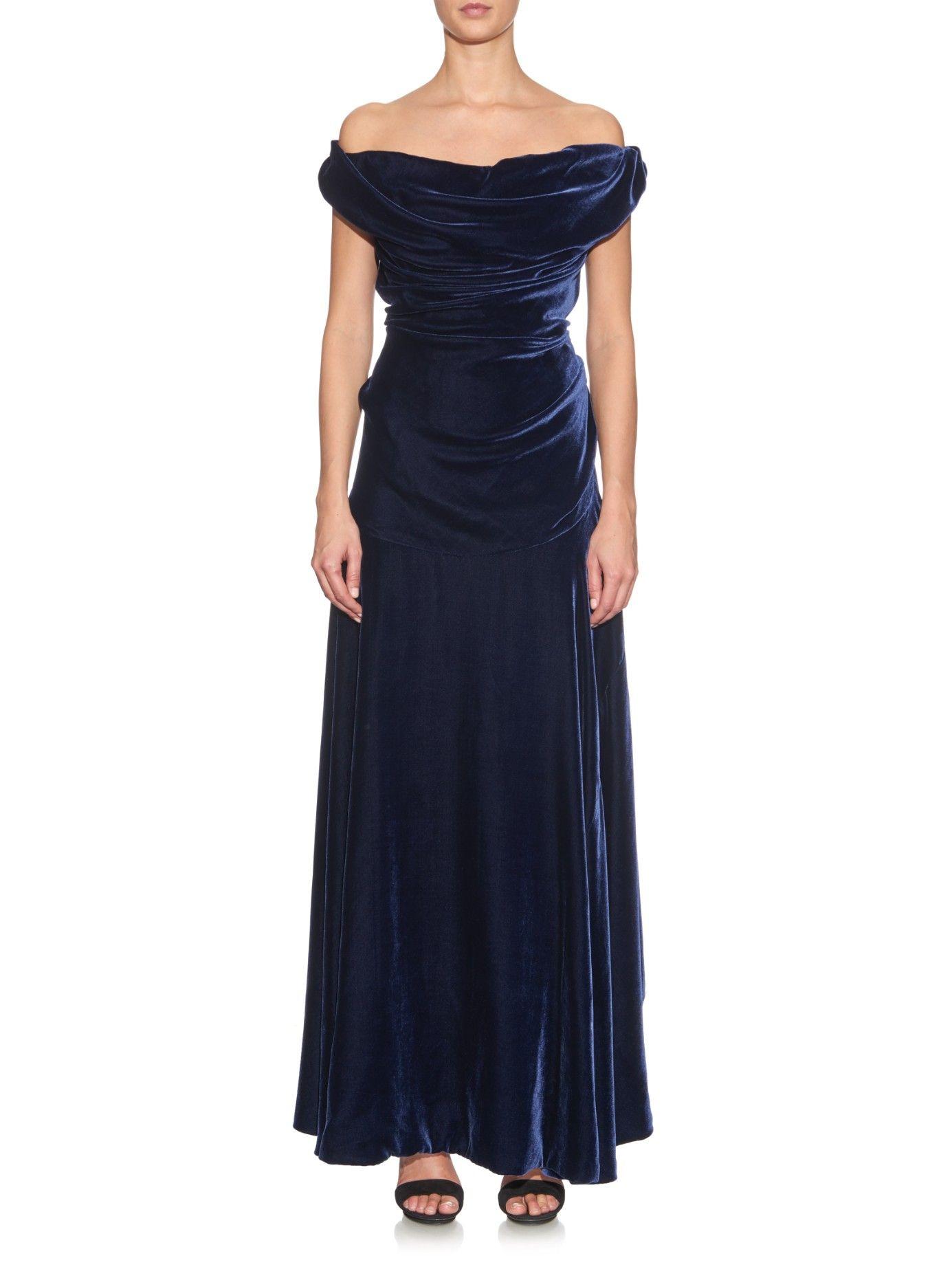 Ginnie offshoulder velvet gown vivienne westwood gold label