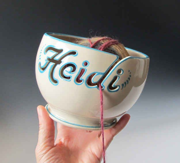 Personalized Yarn Bowl