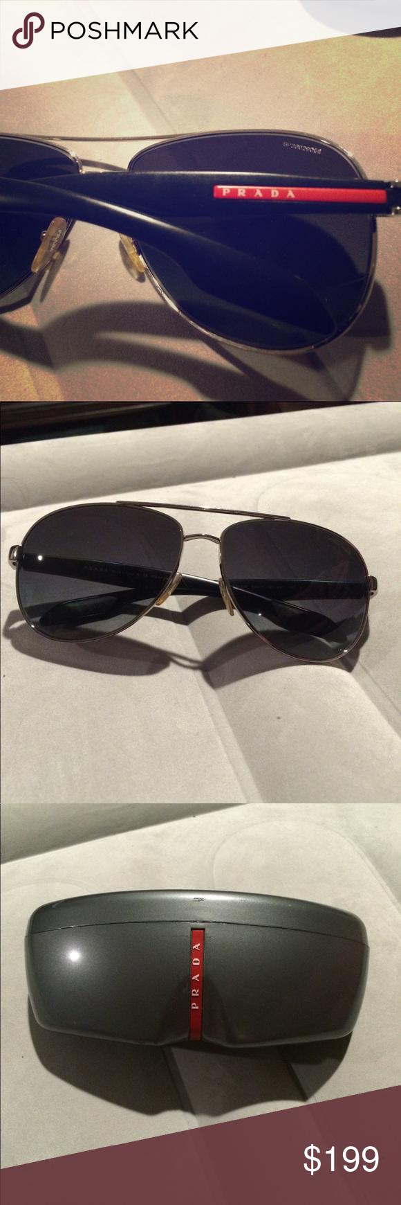 e5fa4dbf1a06 Like New men s aviator Prada sunglasses Like New men s aviator Prada  sunglasses. Comes with the case. No scratches. Prada Accessories Sunglasses