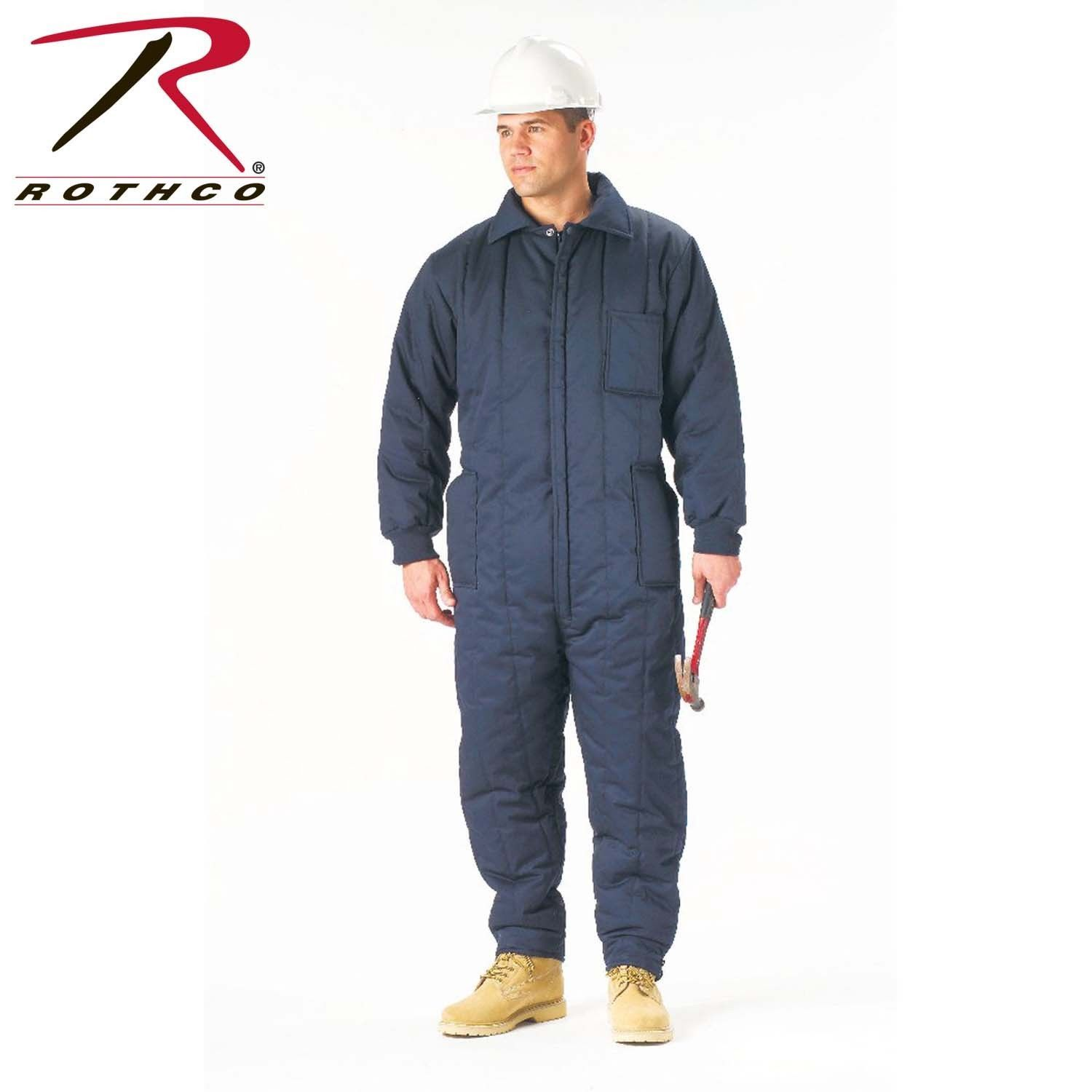 rothco insulated fiberfill cuffs and 2 way zipperer on insulated overalls id=35737