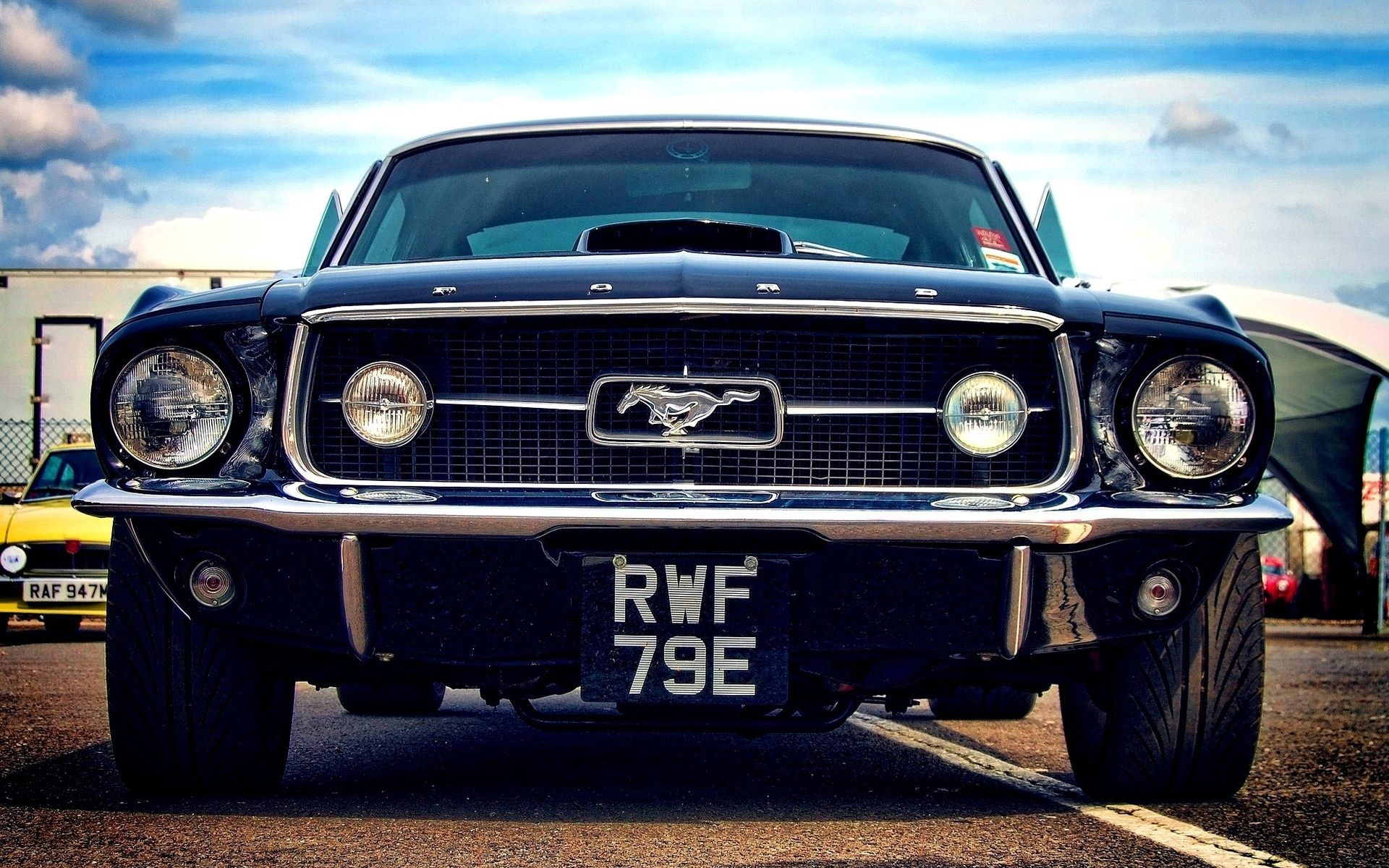 1969 ford vintage mustang this would be my dream car in navy blue with white
