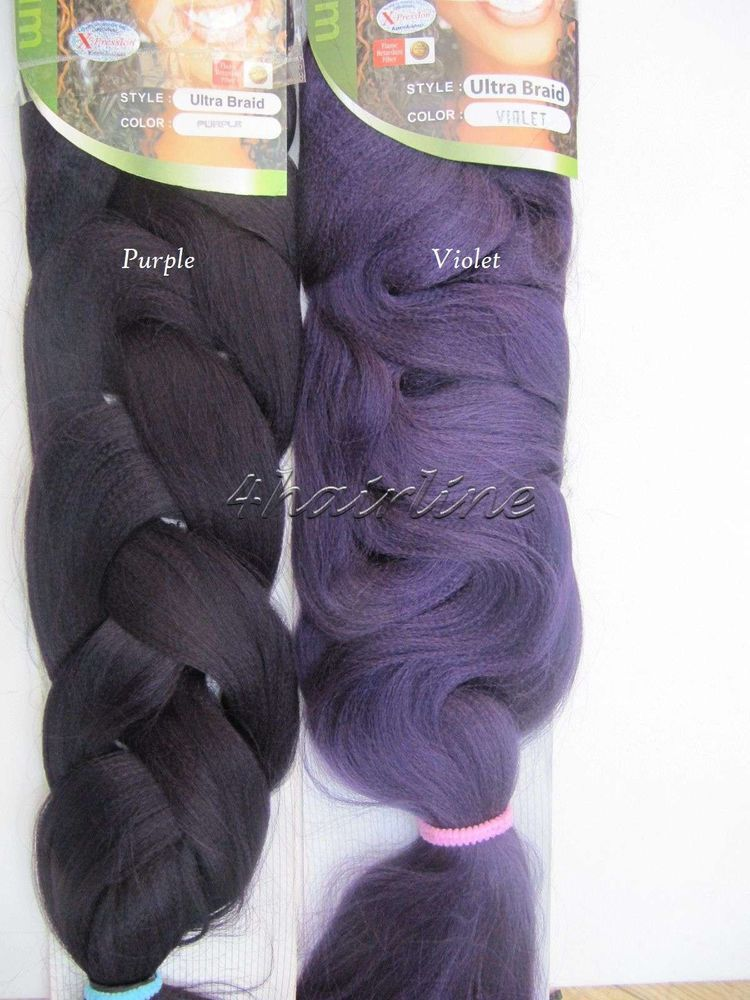 X Pression Ultra Braid Braiding Synthetic Hair Extensions Purple Or