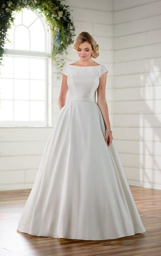Schlichtes Brautkleid Mit Ärmeln | Braut, Brautkleid und ...