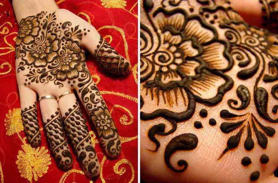 Bridal Mehndi Gta : Best bridal mehndi designs for wedding