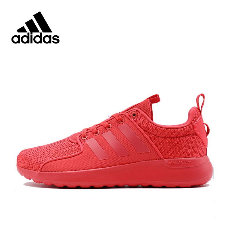 Red Adidas Original NEO Label LITE RACER Women s Skateboarding Shoes Women  Sneakers Sports Outdoor Mesh Breathable Designer cf32d119a443