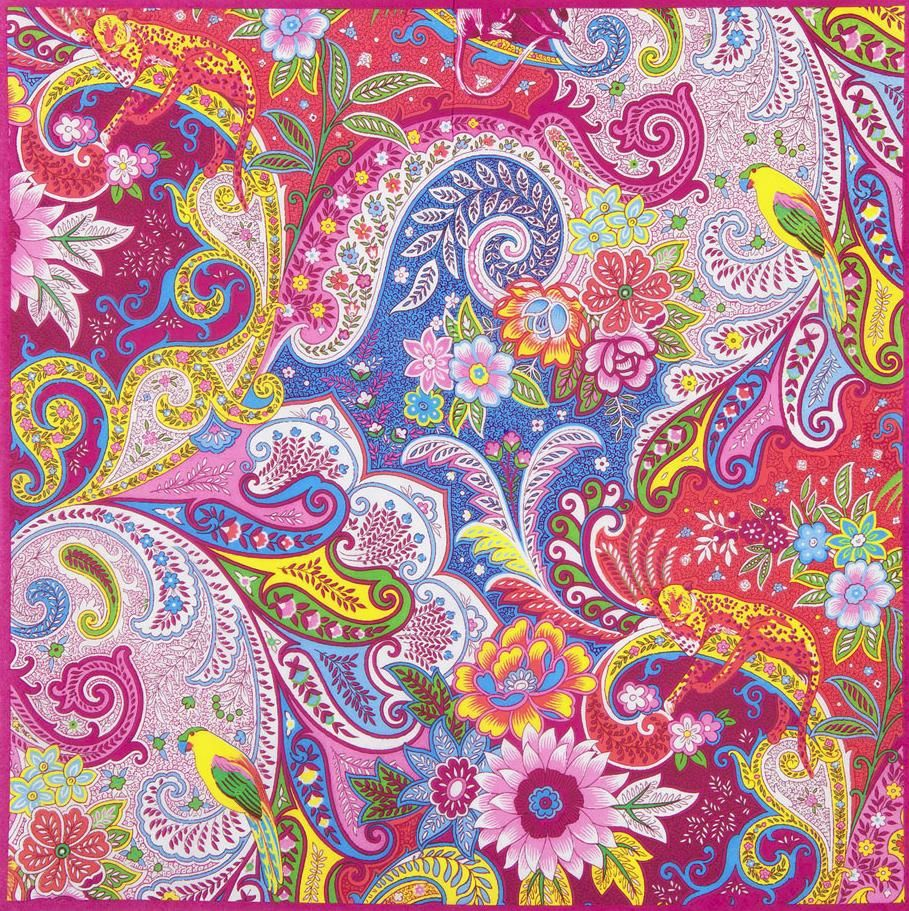 Paisley shower curtain - Pattern Hippie Flowers Design Illustration Packaging