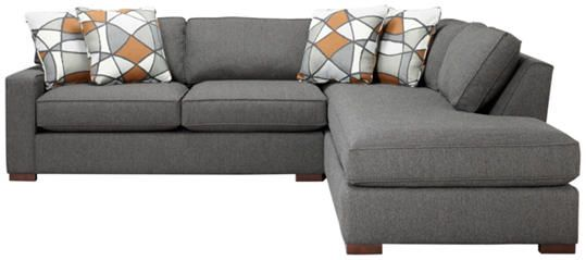 Detroit Sofa Co: St Clair Sectional Makes A Dramatic Presentation With  Greys And Cognac.