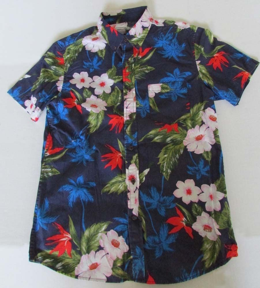 NWOT American Eagle Outfitters Young Men Slim Fit Hawaiian Shirt ...