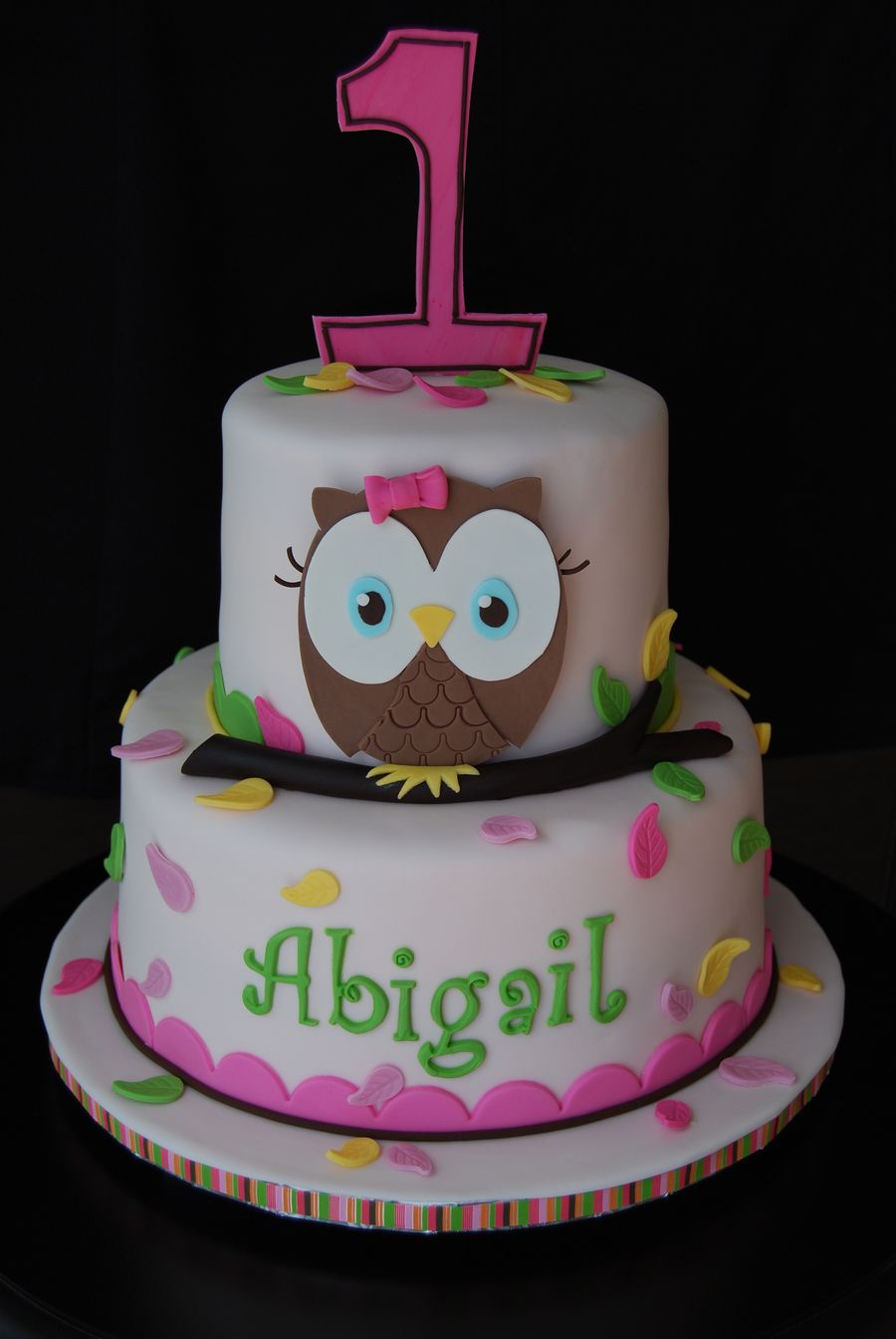 Owl First Birthday On Cake Central Tavalod Pinterest Birthday