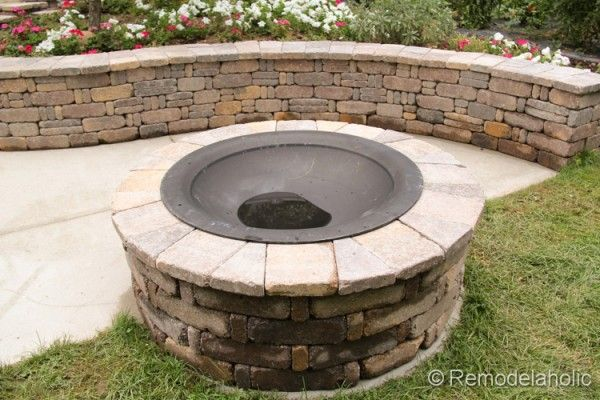Diy Rumblestone Seat Wall And Fire Pit Kit Installation Diy Fire Pit Fire Pit Fire Pit Kit