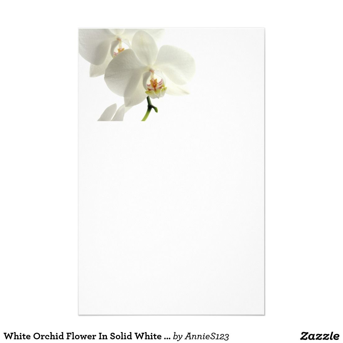Orchid Flowers Fl Weddings White Background Stationery Created By Personalize It With Photos Text Or Purchase As Is
