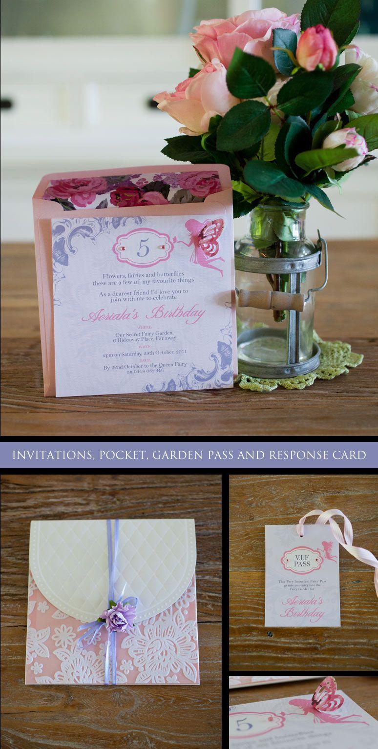 A Fairy Garden party invitations