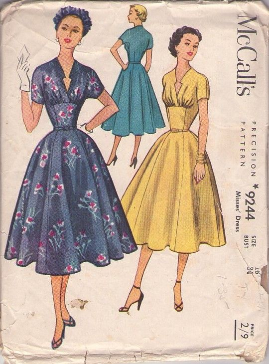 Dejting vintage Butterick mönster