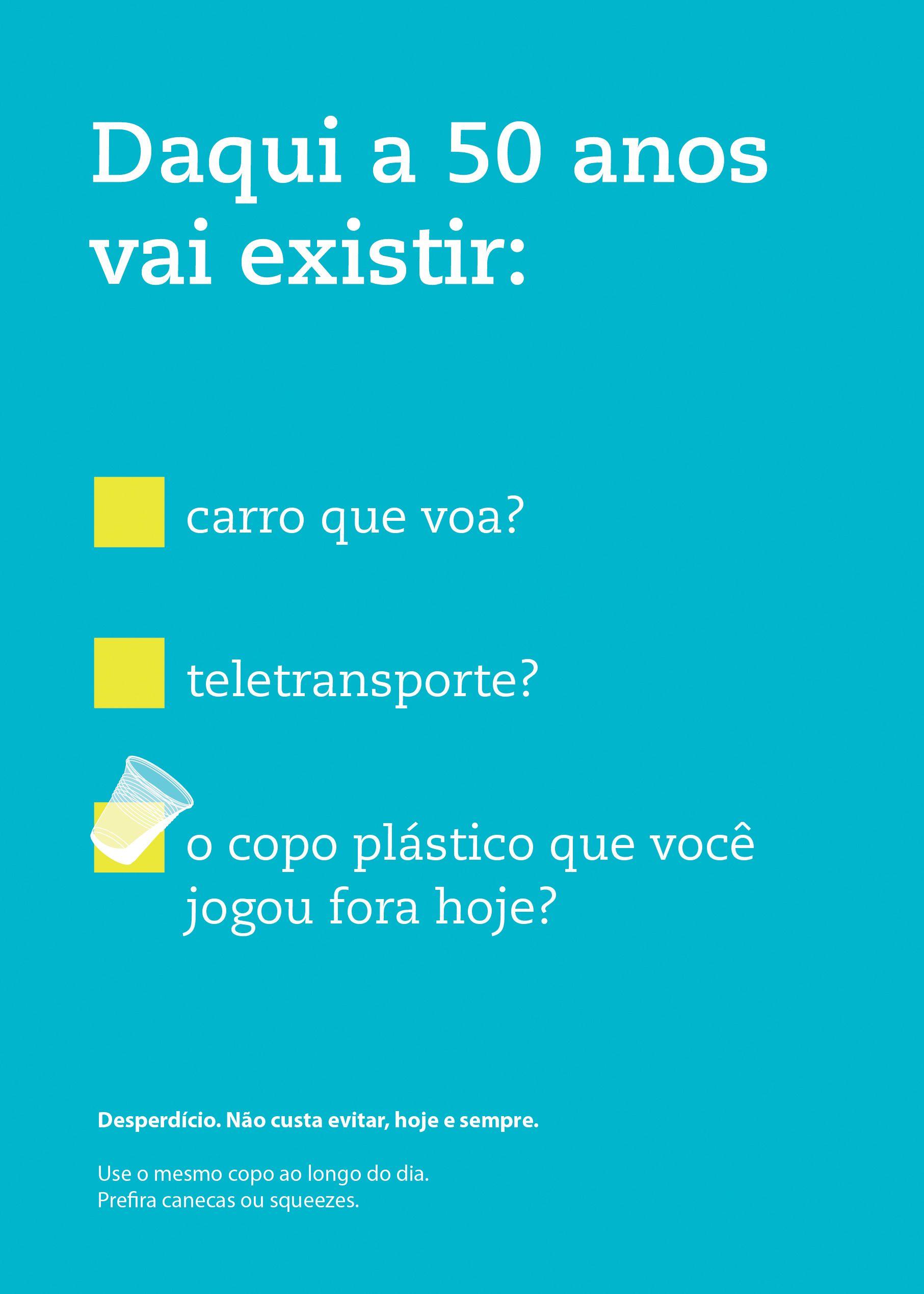 Campanha Contra O Desperdício De Copos Plásticos Na área