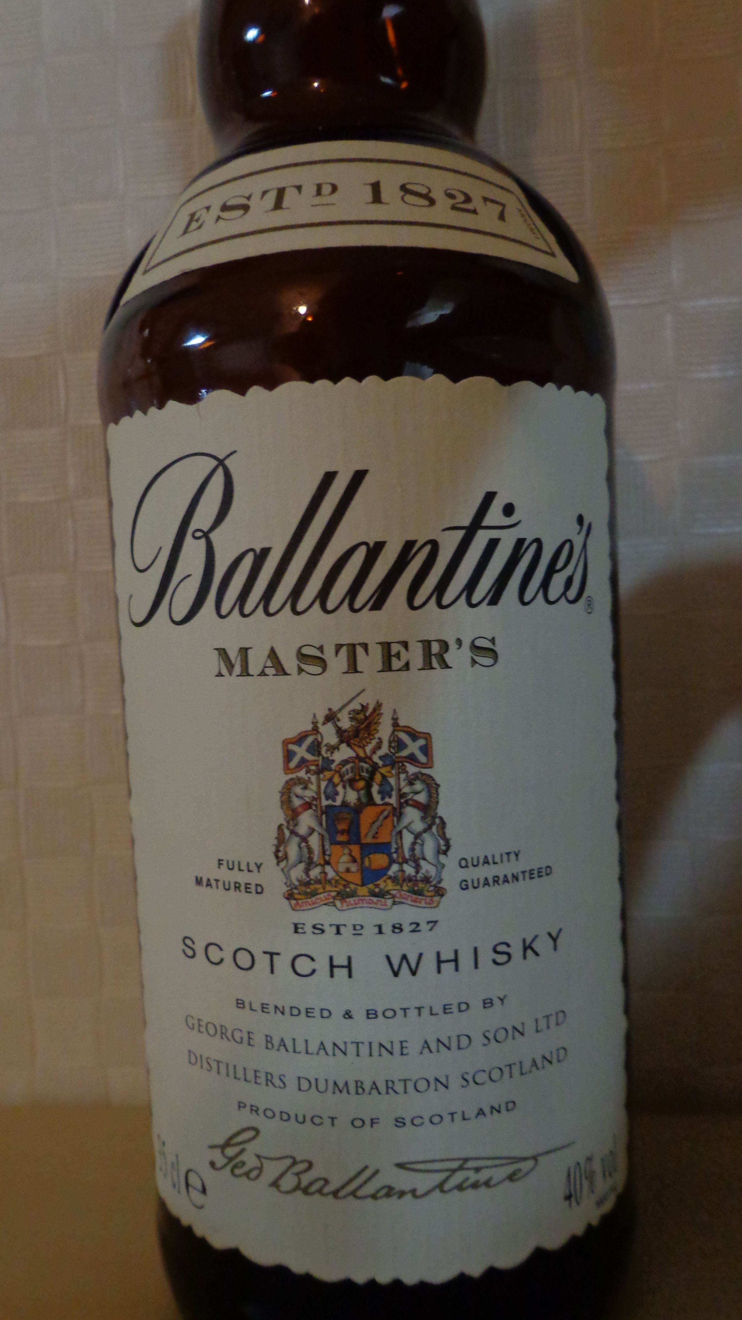 Ballantine S Masters Whisky Scotch Whisky Whiskey Whisky