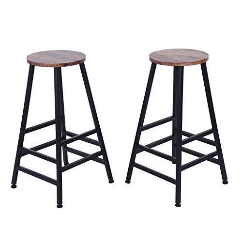 Color Lilij 2pcs Bar Stools 28 Inch Bar Stool Bistro Square Leg