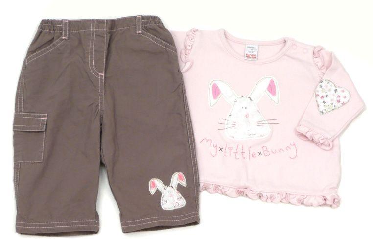 2-tlg. Kombination für Mädchen: Hose, Sweatshirt, Größe: 62-68, englische Mode