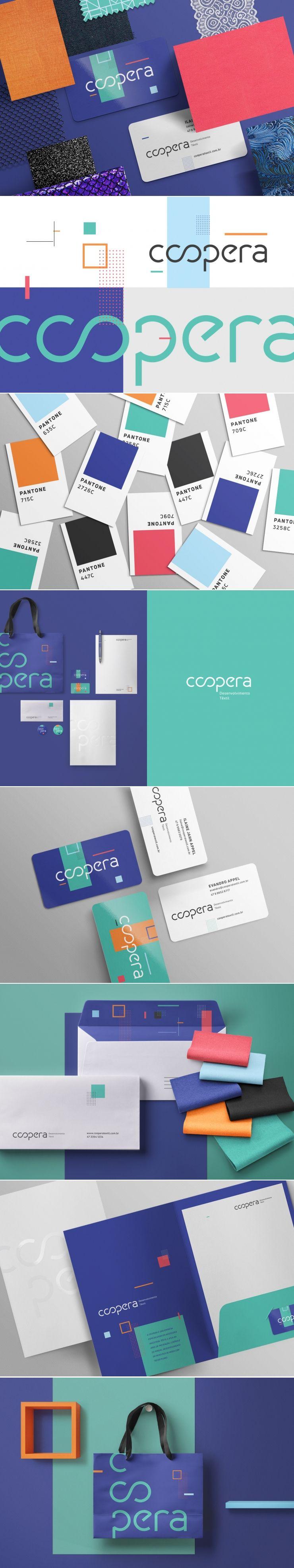 Coopera textile development brand identity by Ramona Katcheika
