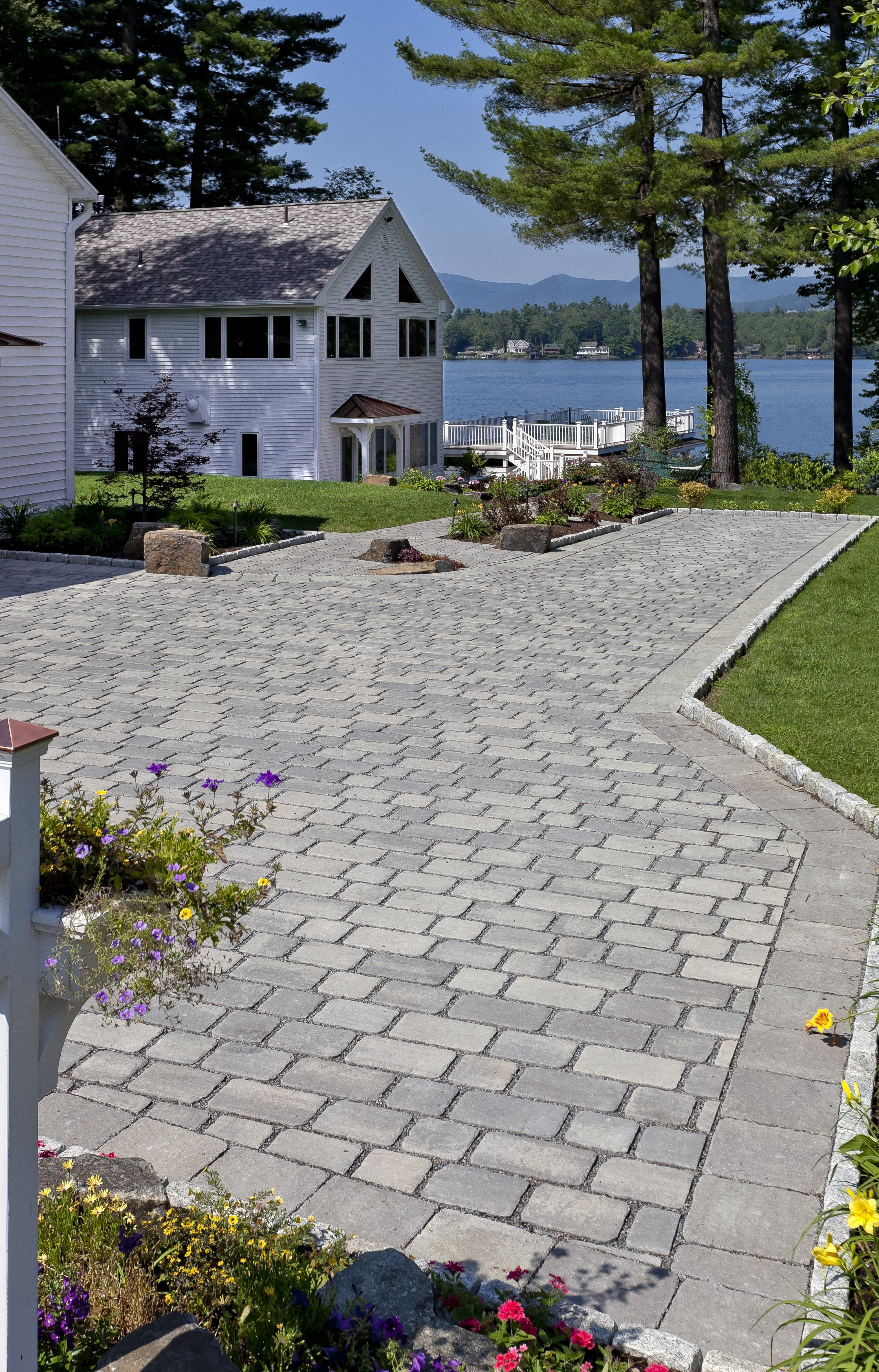 Driveway Landscaping Outdoor Water Features Driveway Design Driveway Landscaping