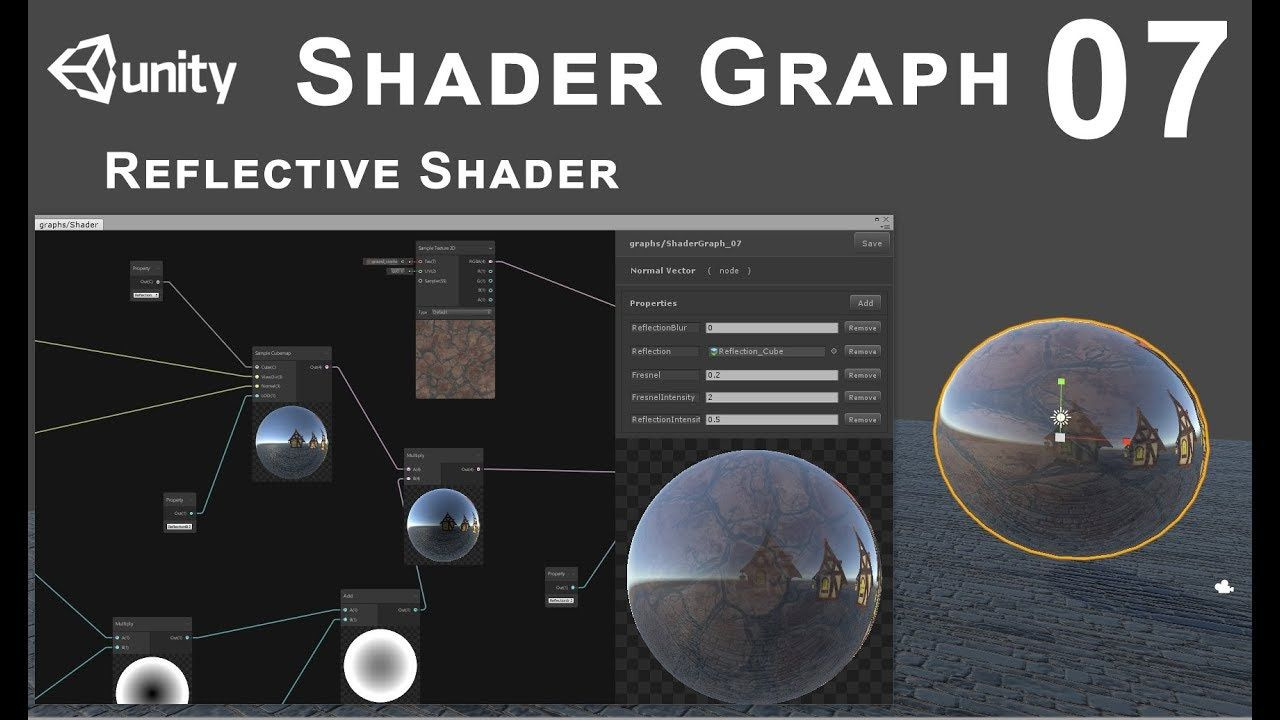 Unity 2018 Shader Graph - Tutorial 07: Reflections | FX/Materials in