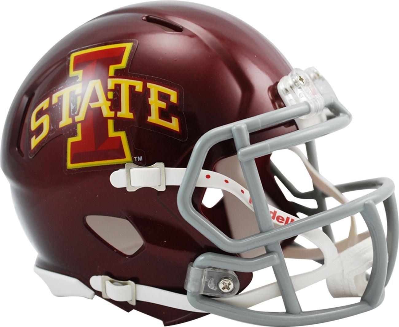 Riddell Iowa State Cyclones Speed Mini Football Helmet In 2020 Mini Football Helmet Football Helmets Mini Footballs