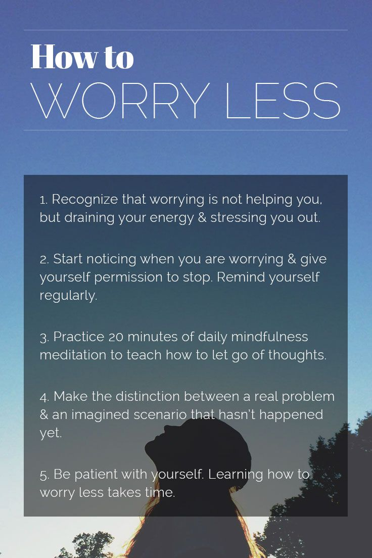 how to stop worrying about time