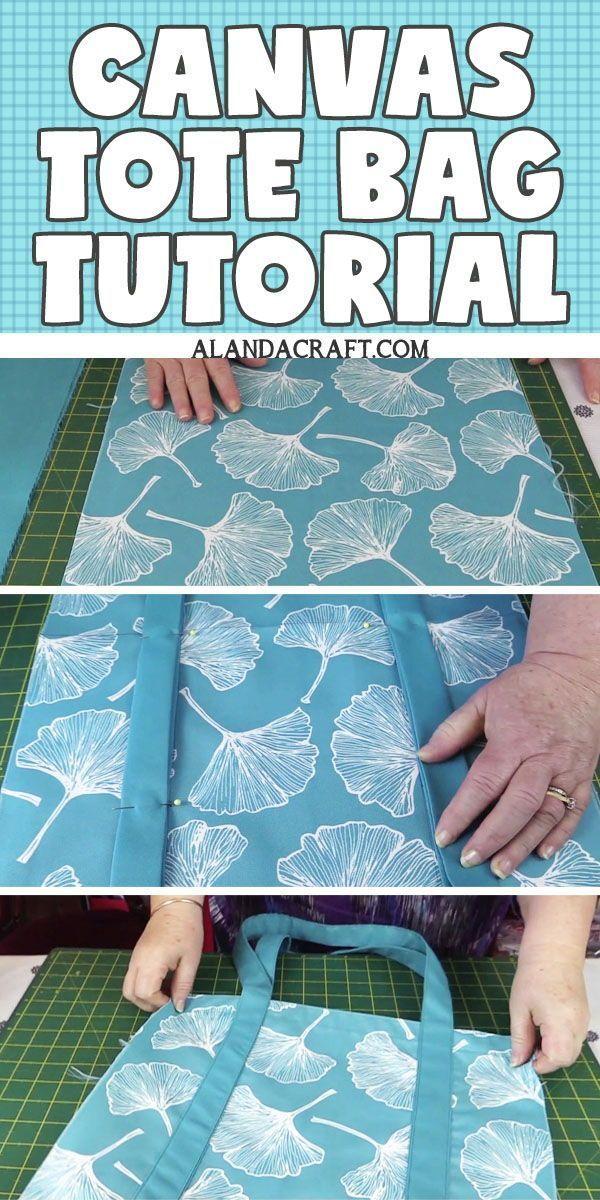 DIY Canvas Tote Bag Tutorial DIY Canvas Tote Bag Tutorial Diy Abschnitt