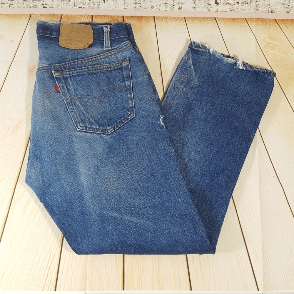 vintage levis 501 blue jeans made in usa 31 x 28