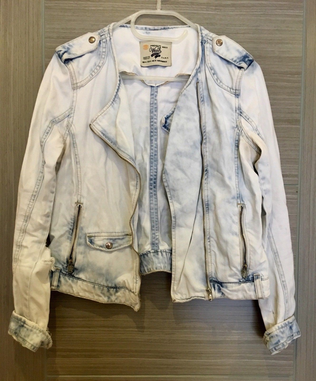 c53db0dcd Details about G-star raw womens denim jacket size M medium blue zip ...