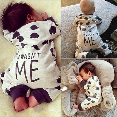 Newborn Infant Baby Girl Boy Romper Bodysuit Long Sleeve Jumpsuit Outfit Clothes