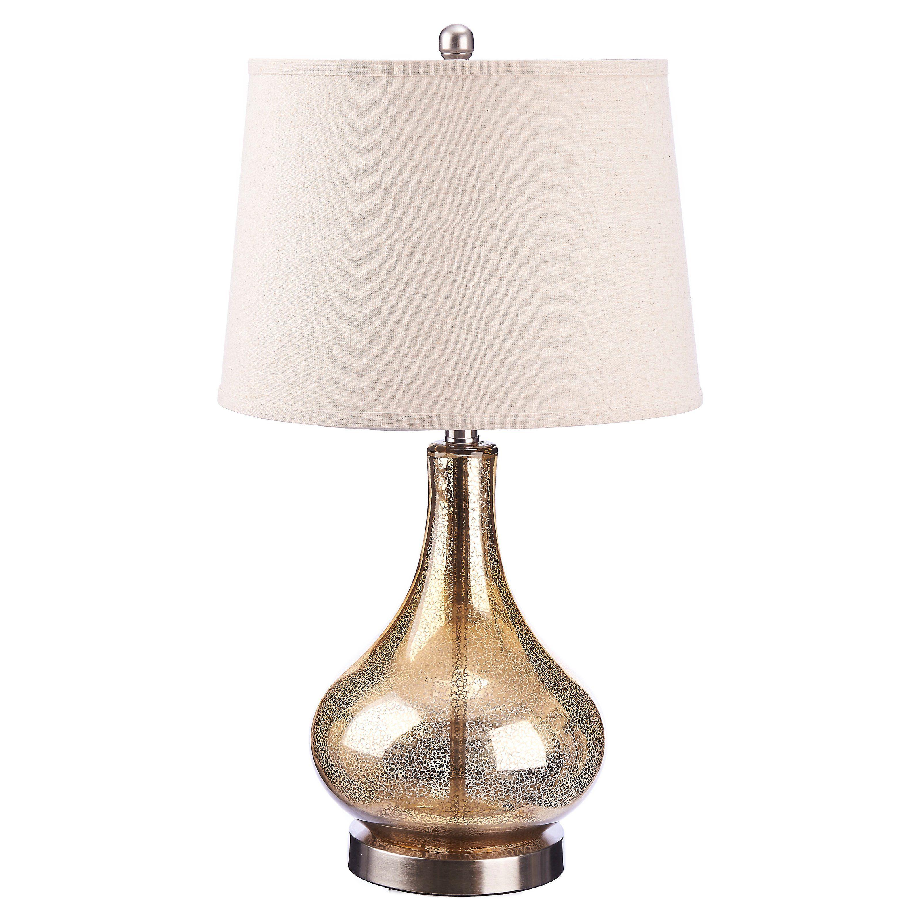 Catalina Lighting 3 Way Gold Mercury Glass Gourd Table Lamp 19560 005 Table Lamp Gold Mercury Glass Mercury Glass Lamp